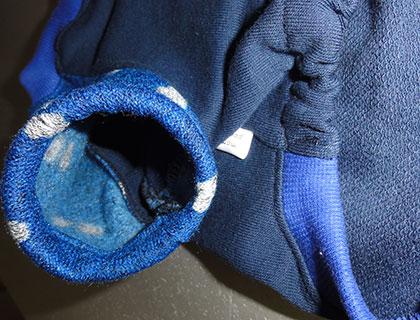 画像4: 紺(綿起毛)×青に白ハート(ジャガード)(半袖)トレーナー3号 (4)