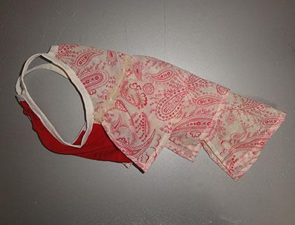 赤ペズリー×赤(綿)-フリルキャミ3号