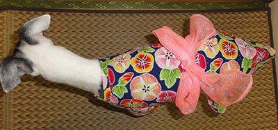 画像2: 浴衣(ピンク・矢と花):SS