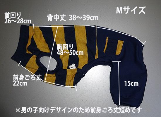 画像1: 紺黄ボーダー×紺(綿ニット):nsa-M (1)