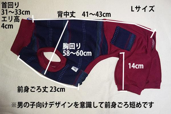 画像1: 紺変わりボーダー×エンジ(綿ニット):nsa-L (1)