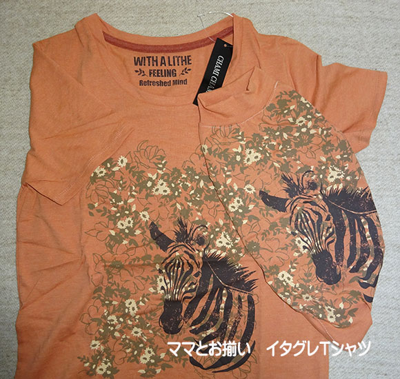 画像1: ママとお揃いTシャツ ゼブラ(3色) (1)